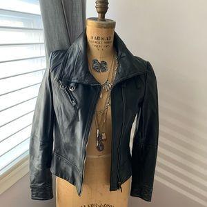 AllSaints Belvedere Black leather jacket